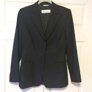 MaxMara | Virgin Wool Black Blazer Size 6